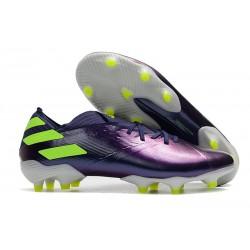 Chaussures de Foot adidas Nemeziz 19.1 FG Violet Vert