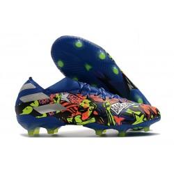 Chaussures de Foot adidas Nemeziz 19.1 FG Bleu Royal Argent Jaune