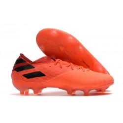 Chaussures de Foot adidas Nemeziz 19.1 FG Corail Noir Rouge Goire