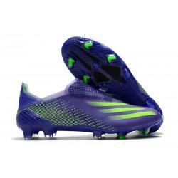 Crampons de Foot adidas X Ghosted + FG Violet Vert