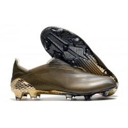 Crampons de Foot adidas X Ghosted + FG Marron