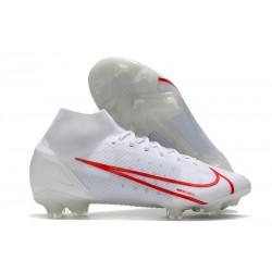Nike Mercurial Superfly 8 Elite FG Blanc Rouge