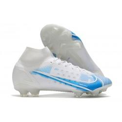 Nike Mercurial Superfly 8 Elite FG Blanc Bleu