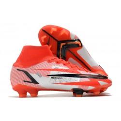 Nike Superfly 8 Spark Positivity CR7 Elite FG Blanc Rouge Noir