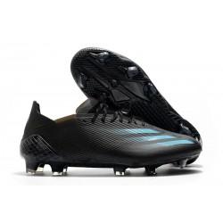 adidas X Ghosted.1 FG Superstealth - Noir Bleu cyan