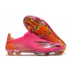 Crampons de Foot adidas X Ghosted + FG Rose Choc Noir Orange