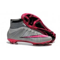 Chaussures Pas Cher Nike Mercurial Superfly FG - Gris Hyper Rose Noir