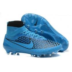 2015 Chaussures Football Magista Obra FG Pas Cher Noir Bleu
