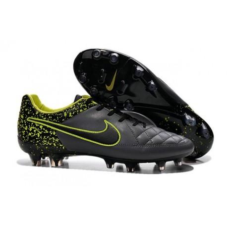 Chaussures de Football Nike - Nike Tiempo Legend V FG - Anthracite Noir Volt
