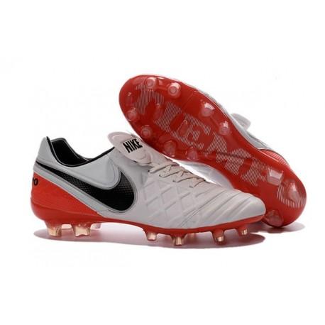 Crampons de football Nike Tiempo Legend VI FG Hommes Blanc Rouge Noir