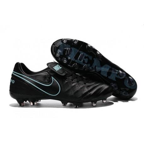 Crampons de football Nike Tiempo Legend VI FG Hommes Noir Bleu