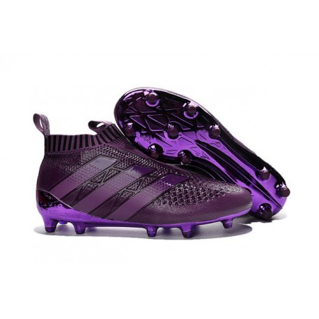 2016 Crampons Foot Adidas Ace16+ Purecontrol FG/AG Violet