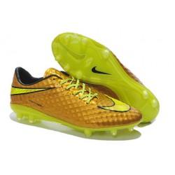 Chaussure De Football - Nike Hypervenom Phantom FG - Terrain Sec - Chaussure Homme Neymar Or Jaune