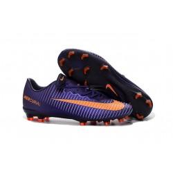2016 Chaussures Football - Nike Mercurial Vapor XI FG Crampons Violet Orange