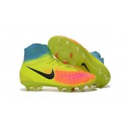 Chaussures de football - Nouveau Nike - Magista Obra II FG Volt Noir Orange