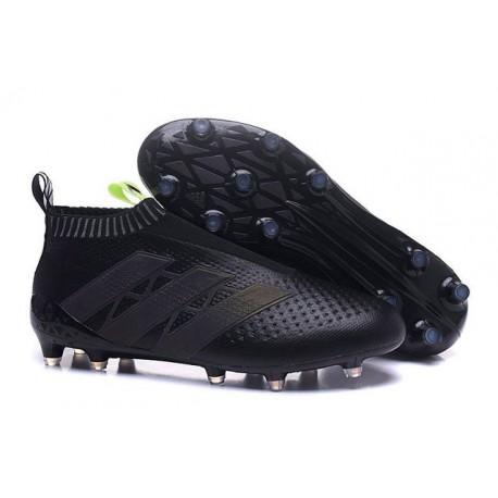 2016 Crampons Foot Adidas Ace16+ Purecontrol FG/AG Noir Jaune