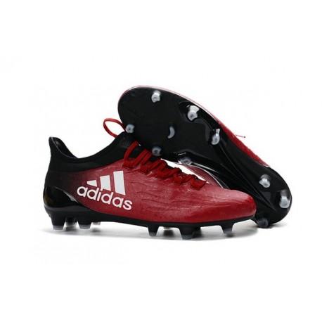 Chaussures de football Adidas X 16.1 AG/FG Pas Cher Rouge Blanc Noir