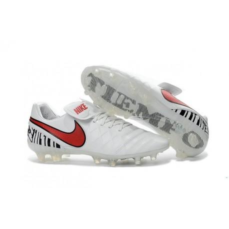 Chaussures de football Nike Tiempo Legend 6 FG Hommes Blanc Rouge