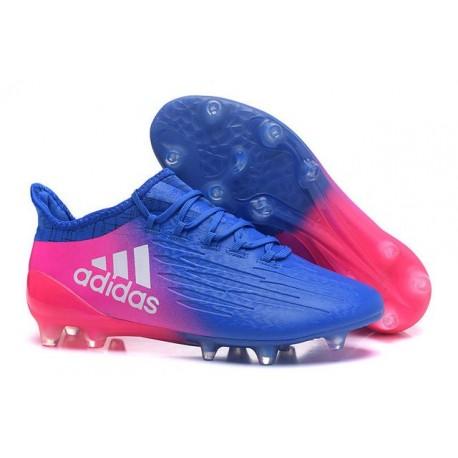 Adidas X 16.1 AG/FG - Crampons foot Nouveau Bleu Rose Blanc