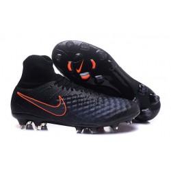 Chaussures de football - Nouveau Nike - Magista Obra II FG Noir Carmin