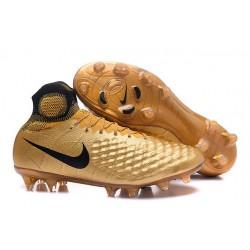 Chaussures de football - Nouveau Nike - Magista Obra II FG Noir Or