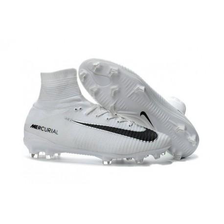 Nike Mercurial Superfly 5 FG - Chaussures de Football 2016 Blanc Noir