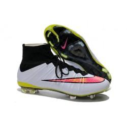 Nouveau Crampons Foot Nike Mercurial Superfly FG - Blanc Volt Hyper Rose Noir