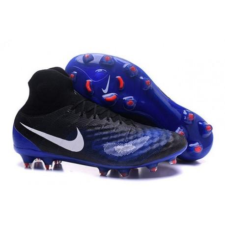 Chaussures de football - Nouveau Nike - Magista Obra II FG Noir Bleu Blanc
