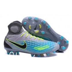 Chaussures de football - Nouveau Nike - Magista Obra II FG Platine Noir Vert