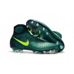 Chaussures de football - Nouveau Nike - Magista Obra II FG Turquoise Rio Volt Obsidienne Jade