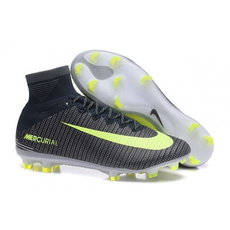 Nike Mercurial Superfly 5 FG - Chaussures de Football 2016 Algue Volt Hasta Blanc