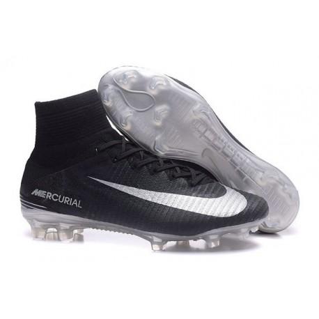 Nike Mercurial Superfly 5 FG - Chaussures de Football 2016 Noir Argent