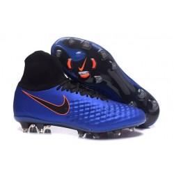 Hommes Chaussures Nike Magista Obra II FG Bleu Noir Orange