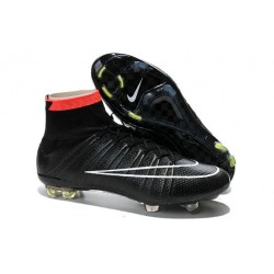 Chaussures Nike Mercurial Superfly FG Hommes - Noir Blanc Rouge