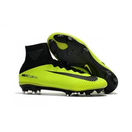 Nouvelles Nike Mercurial Superfly 5 FG - Chaussures de Football Volt Noir