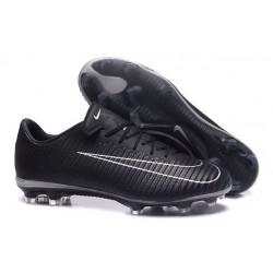 Nouveau Chaussures Football - Nike Mercurial Vapor XI FG Crampons Noir Blanc