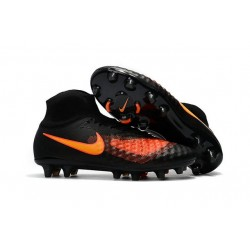 Chaussures de football - Nouveau Nike - Magista Obra II FG Noir Orange