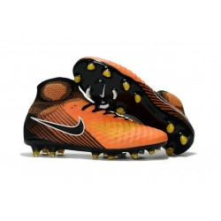 Chaussures de Foot Nike Magista Obra II Tech Craft FG Orange Jaune Noir