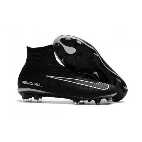 Crampon Mercurial Pas Cher - Chaussure Football Nike Mercurial Superfly V FG Noir Gris