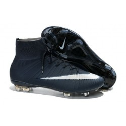 Chaussures Nike Mercurial Superfly FG Hommes - Blanc Cyan