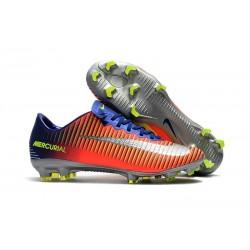 Nouveau Chaussures de Foot Nike Mercurial Vapor 11 FG Bleu Royal Chrome Carmin