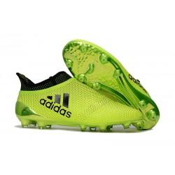 Adidas X 17+ Purespeed FG - Chaussures de Foot pour Hommes Vert Noir