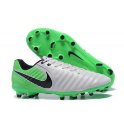 Nike Tiempo Legend VII FG - Chaussures de Football pour Hommes Blanc Vert Noir