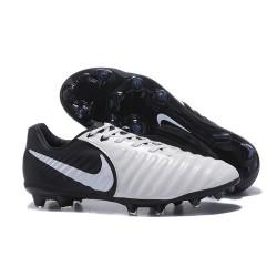 Nike Tiempo Legend VII FG - Chaussures de Football pour Hommes Noir Blanc