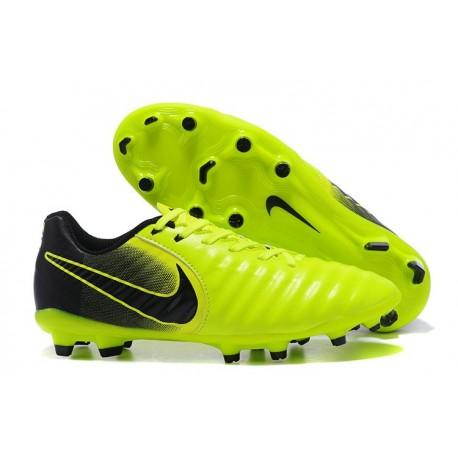 Nike Tiempo Legend VII FG - Chaussures de Football pour Hommes Volt Noir