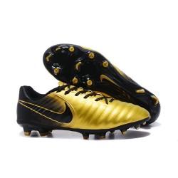 Nike Tiempo Legend VII FG - Chaussures de Football pour Hommes Or Noir
