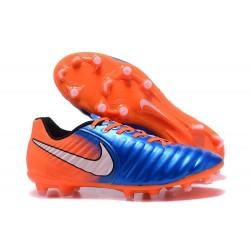 Nike Tiempo Legend VII FG - Chaussures de Football pour Hommes Bleu Orange