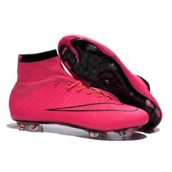 Chaussures Nike Mercurial Superfly FG Hommes - Rose Noir