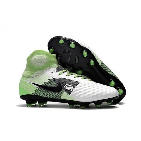 Crampons De Foot Nike Magista Obra 2 FG ACC Blanc Vert Noir