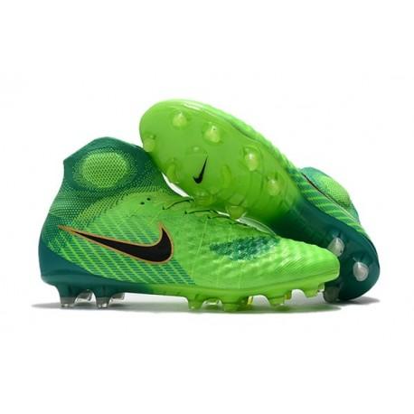 Chaussures de Foot Nike Magista Obra II FG Vert Noir